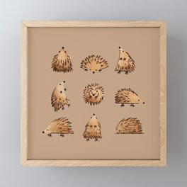 An Array of Hedgehogs Framed Mini Art Print