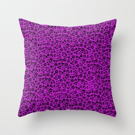 Vintage Flowers Dazzling Violet Throw Pillow