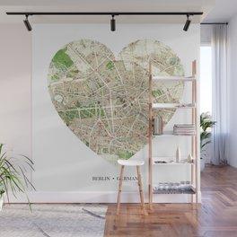 Berlin heart map Wall Mural