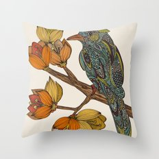 Bravebird Throw Pillow