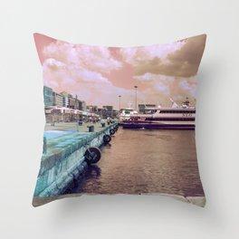 Port of Naples Experimental Throw Pillow