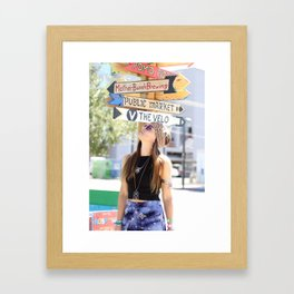 Which way Framed Art Print