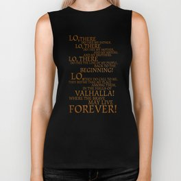 Viking Prayer Biker Tank