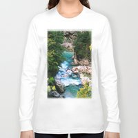 minerals Long Sleeve T-shirts featuring The river in the mountains by Carlo Toffolo