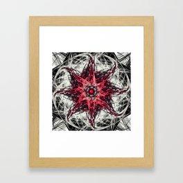 Dark Magic Fractal RED Framed Art Print