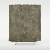 concrete Shower Curtains featuring Concrete by Texture