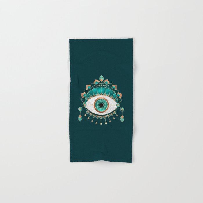 Teal Eye Hand & Bath Towel