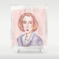 scully Shower Curtains featuring Scully by libbygrace