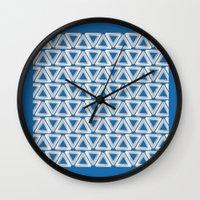 escher Wall Clocks featuring Escher #005 by rob art | simple