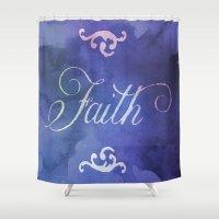 faith Shower Curtains featuring Faith by Camille