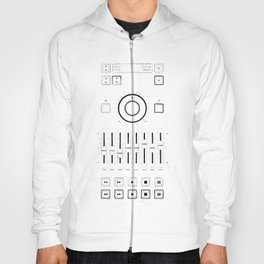Close up vintage boombox equaliser panel Hoody
