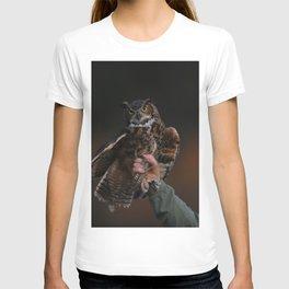 owl bird photo T-shirt
