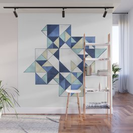 Abstraction of a blue bird Wall Mural