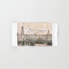 Paris art print Paris Decor office decoration vintage decor PLACE CONCORDE of Paris Hand & Bath Towel