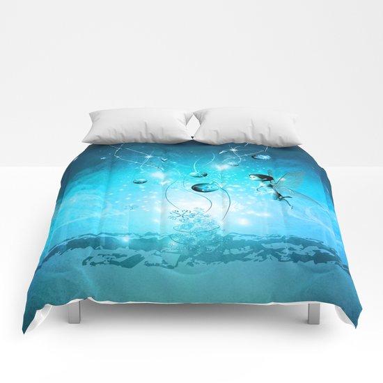 Cute elf in blue Comforters