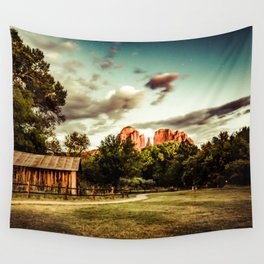 Southwest Chimney Rock Vortex Sedona Arizona Wall Tapestry