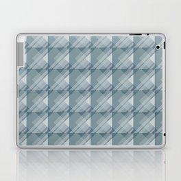 Modern Geometric Pattern 7 in Teal Laptop & iPad Skin