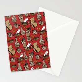 you're all wizards, pottery! pattern Stationery Cards
