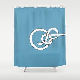 blue knot Shower Curtain