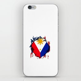 American Grown wirt Filipino Roots iPhone Skin