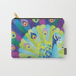 Shanti Sparrow: Priscilla the Peacock Carry-All Pouch
