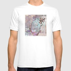 The Owl and the Calico Cat MEDIUM White Mens Fitted Tee