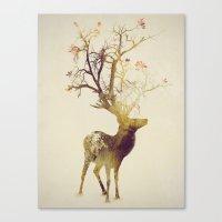 autumn Canvas Prints featuring Autumn by Daniel Taylor