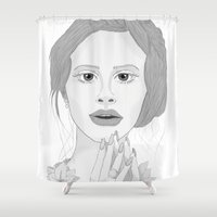 lana Shower Curtains featuring Lana by Gusti