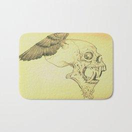 Winged Skull Bath Mat