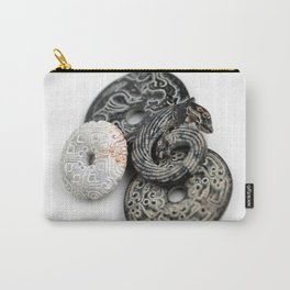 Jade Black And White Carry-All Pouch