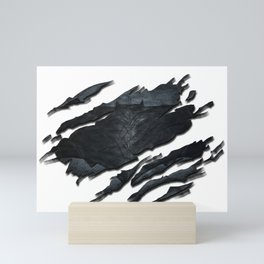Bat-man BvS Ripped Symbol Mini Art Print