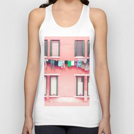 Laundry Venice Italy Travel Photography Unisex Tank Top