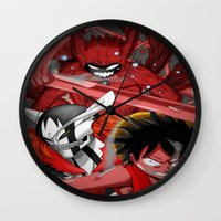 luffy Wall Clocks featuring Shonen jump's best! by fangterry