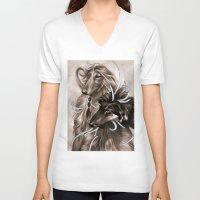 the hound V-neck T-shirts featuring Hound Dog by Estúdio Marte