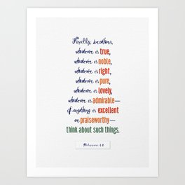 Think About Such Things . . . Art Print