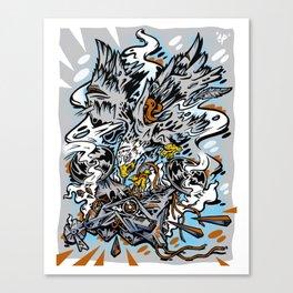 Eagle Vs Drone Canvas Print