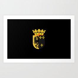 Coat of arms of Workum Art Print