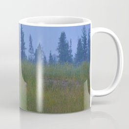 Early morning coyote sighting in Jasper National Park Coffee Mug