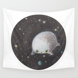 Blob floating in space Wall Tapestry