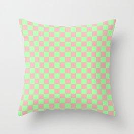 Checkered Pattern I Throw Pillow