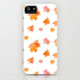 Falling Leaves Pattern iPhone Case