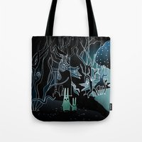 scary Tote Bags featuring scary place     by Bunny Noir