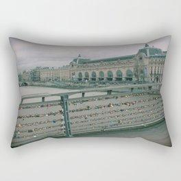 Love Locked in Paris Rectangular Pillow