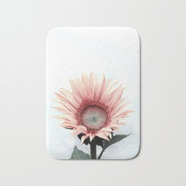 Pink Sunflower Bath Mat
