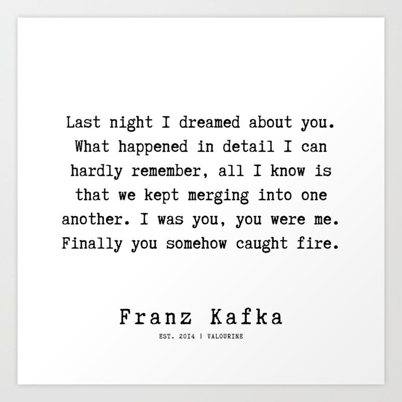 59 | Franz Kafka Quotes | 190910 Art Print
