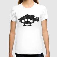 bass T-shirts featuring Bass Knuckles by Jonah Makes Artstuff
