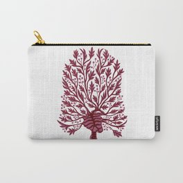 Skeleton Hawthorn Tree White Carry-All Pouch