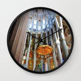 Sagrada Familia by Gaudi, Barcelona Cathedral | Jesus On The Cross Wall Clock