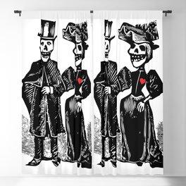 Calavera Couple | Skeleton Couple | Calaveras | Vintage Couple | Victorian Gothic | Blackout Curtain