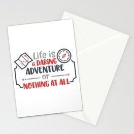 Life is a daring adventure or nothing at all Stationery Cards